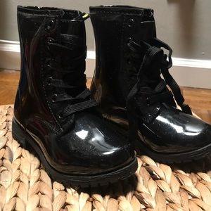 Black Glitter Combat Boots - BRAND NEW
